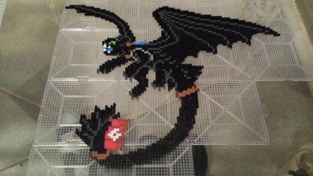 Alpha Toothless - Perler Sprite by Neeko96
