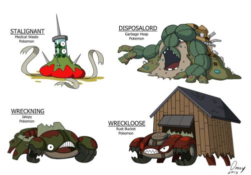Garbage-Type Pokemon by Omny87