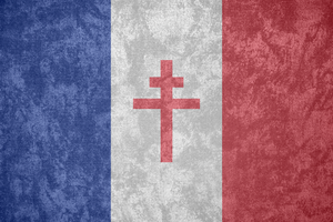 Free France ~ Grunge Flag (1940 - 1944) by Undevicesimus