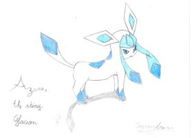 Azure, the shiny glaceon by Cassandra55