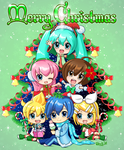 Merry Vocaloid Christmas 2015 by Randwill