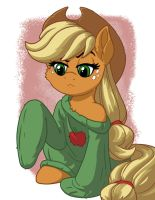 Applejack in Over-sized Sweater by LateCustomer