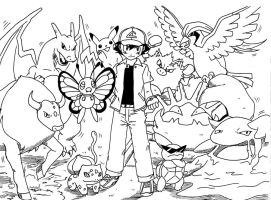 Ash Kanto Team by Rohanite