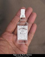 Miniature Papercut - Jack Daniels - whiskey - by ParthKothekar