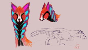 Simurgh concept sketches by Domisea