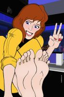 Bootless April O'Neil by sandrock74