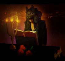 Wolf the pianist by arucarrd