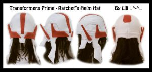 Transformers Prime Ratchet's Helm Hat by LiliNeko