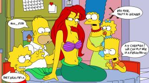 ARIEL in THE SIMPSONS by arieldepp