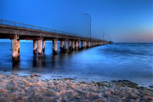 Altona Beach - almost night by dzign-art