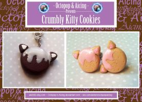 Crumbly Kitty Cookies by Octopop-n-Aicing