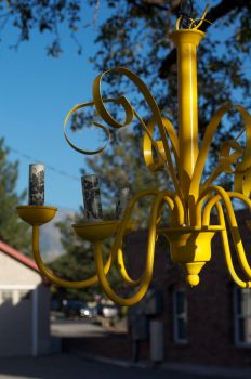 Yellow Chandelier by Red-Isabell