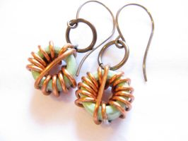 Motherboard Coil Earrings by Afireonthesnow