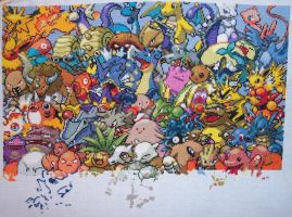 Pokemon Gen. 1 Cross Stitch 09 by lizardlea