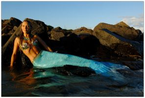 Mermaid on the rocks 3 by wildplaces