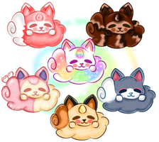 Maneki-Puffs! #1-6 [Closed] by NommieCow