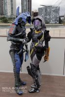 Reconciliation: Legion and Tali - Mass Effect by DashyProps