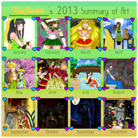 2013 Art Summary by KiaCookie