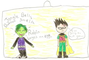 Robin did what, Beastboy? by cartunegirl56