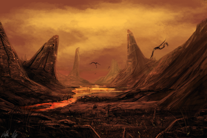 District 9 landscape by PeterPrime
