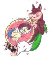 Request Vore: Blight in Dingodile's Belly by KnightRayjack