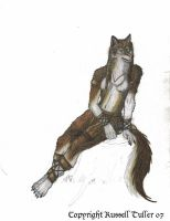 Female Wolf Anthro in Progress by RussellTuller