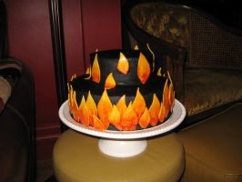flame cake by cakelover88