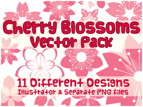 Vector Pack - Cherry Blossoms by shiropanda