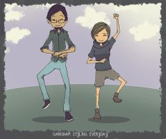Aveldine and Me doing the gangnam XD by faruuk-sama