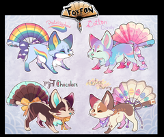 Pastel Foxfan Auction CLOSED! by Belliko-art