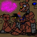 Nightmare Freddy and Triplets! by YaoiLover113