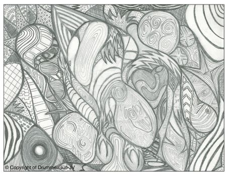 Abstract Sketch by DrummerGurl-JV