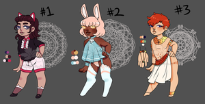{OPEN 1/3 PRICE REDUCED} Chibi Adopts! by maplesprout