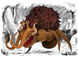 Shambling Mammoth Snail by whalewithlegs