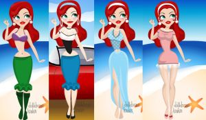 Ariel Pin-Ups by Kataang15Love