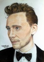 Tom Hiddleston  - Colour Pencils 2 by FabianaAzevedo