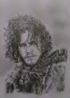 Jon Snow from Game of Thrones by JonARTon