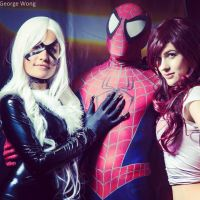 Black Cat Spiderman and MJ Cosplay by Mad--Maven