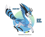 [OPEN AUCTION] Blue Jay Kirin by Almairis