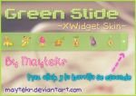 Green Slide for XWidget by MayteKr