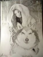 Red and the wolf by Maryluworld