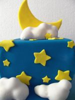 Moon and Stars Cake by zamor438