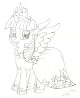 Princess Twilight Sketch by wildtiel