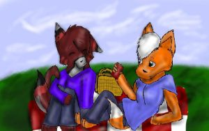 Picnic With Kane by Wolves-and-Warriors