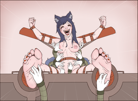 Ahri Tickled by wtfeather