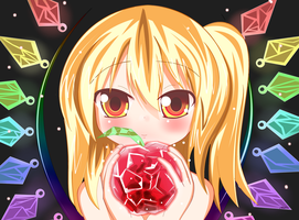 Bad Apple: Flandre Scarlet by zWaffle