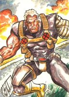 Cable Sketch Card Commish by ChrisMcJunkin