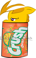 Thunderstrike in a Orange Crush Can by LissyAnneChan