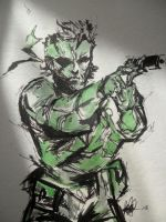 METAL GEAR SOLID 30 MINUTE INK DOODLE by BUMCHEEKS2