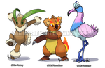 Commission: Fakemons by ky-nim